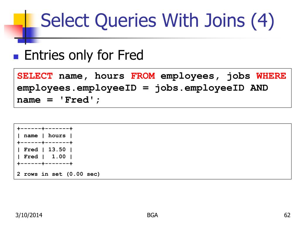 Select Queries With Joins (4)