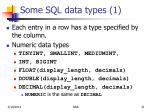 some sql data types 1