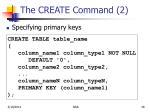 the create command 2