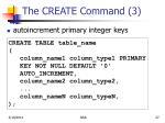 the create command 3