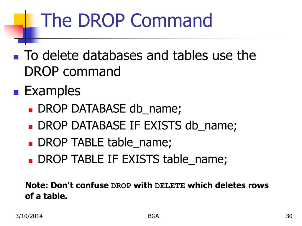 The DROP Command