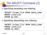 the select command 2