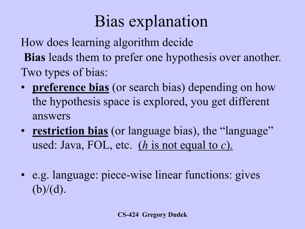 Bias explanation