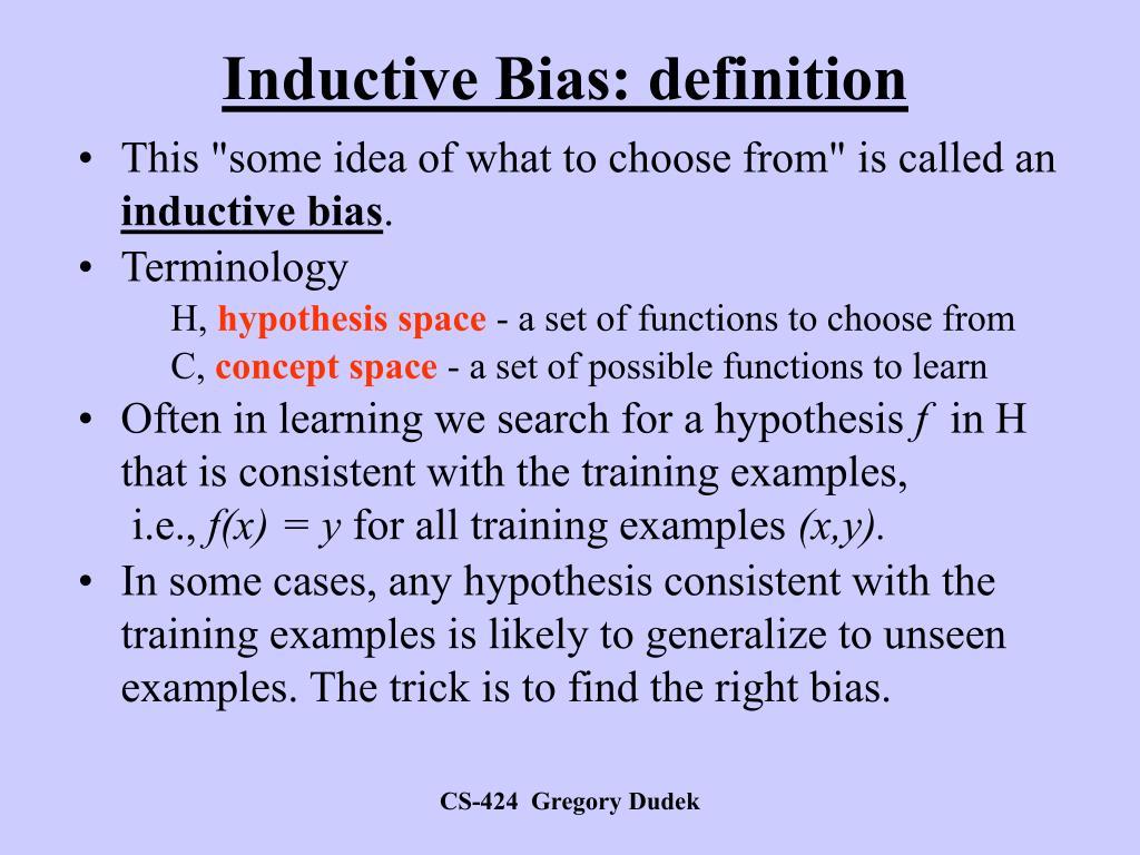 Inductive Bias: definition