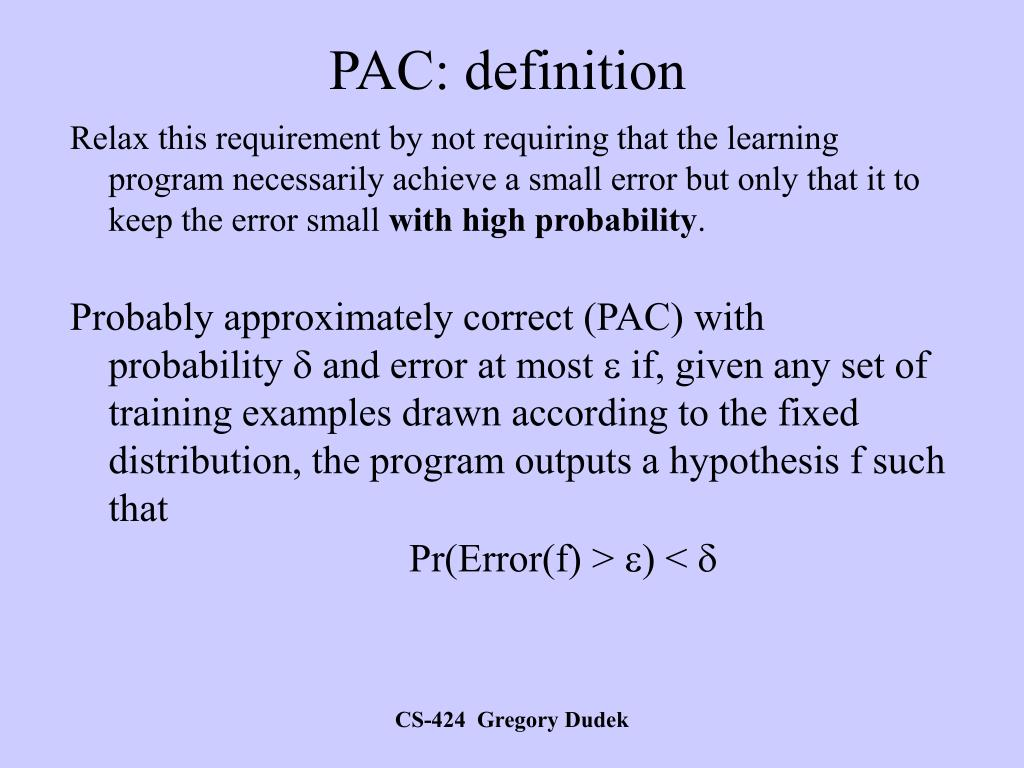 PAC: definition