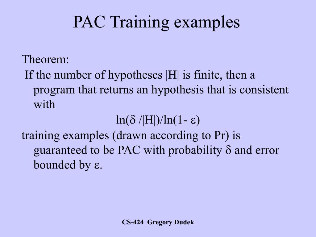 PAC Training examples