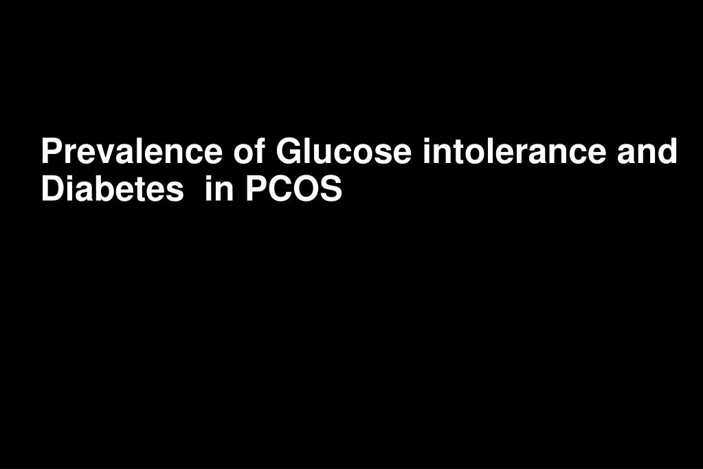 Prevalence of Glucose intolerance and