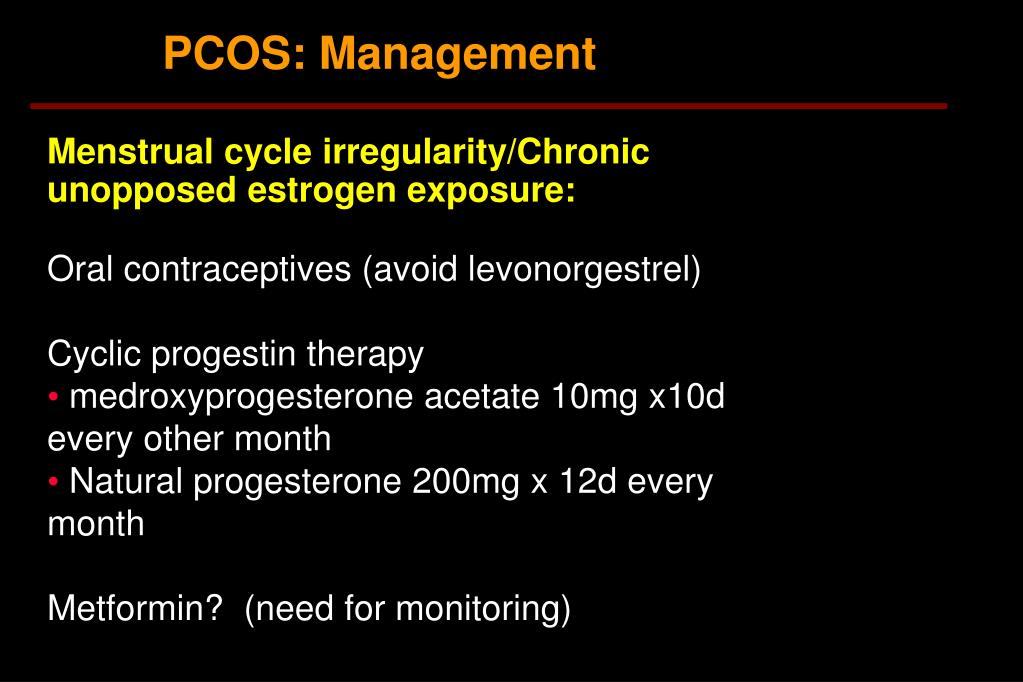 PCOS: Management