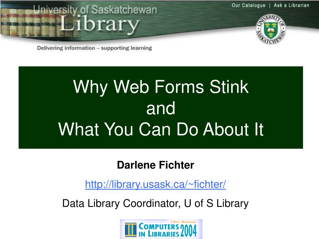 Why Web Forms Stink
