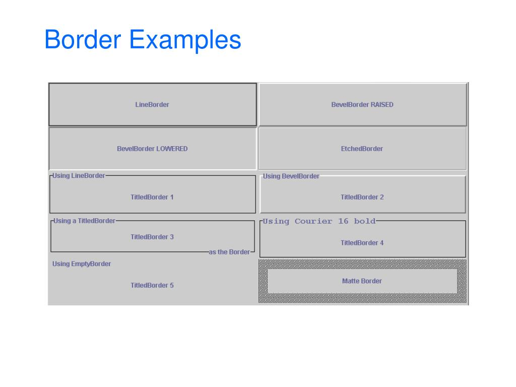 Border Examples