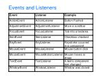 events and listeners