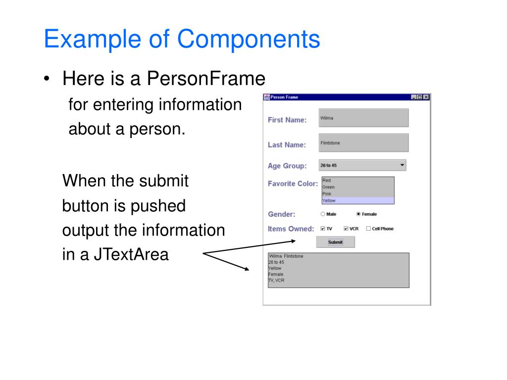 Example of Components