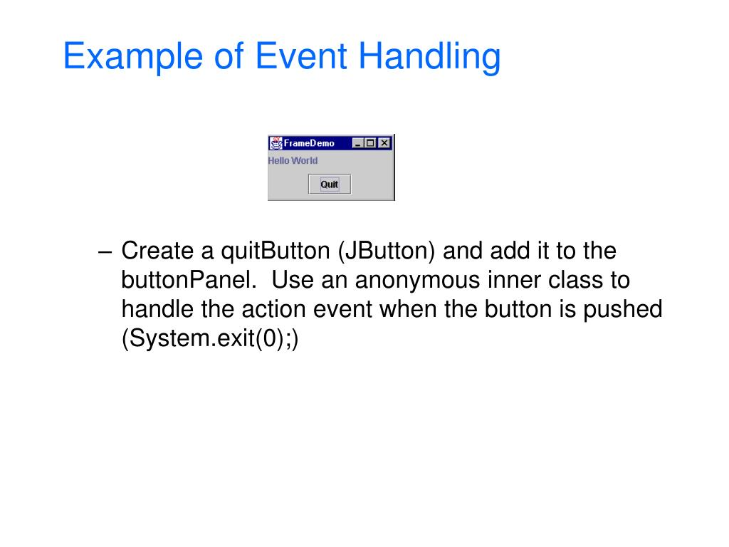 Example of Event Handling