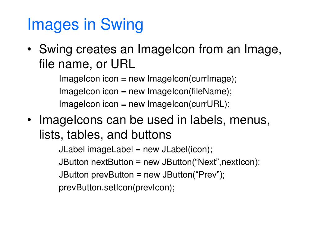 Images in Swing