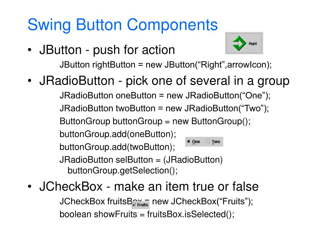 Swing Button Components