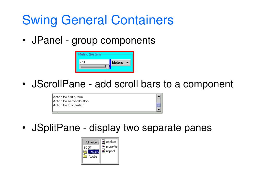 Swing General Containers