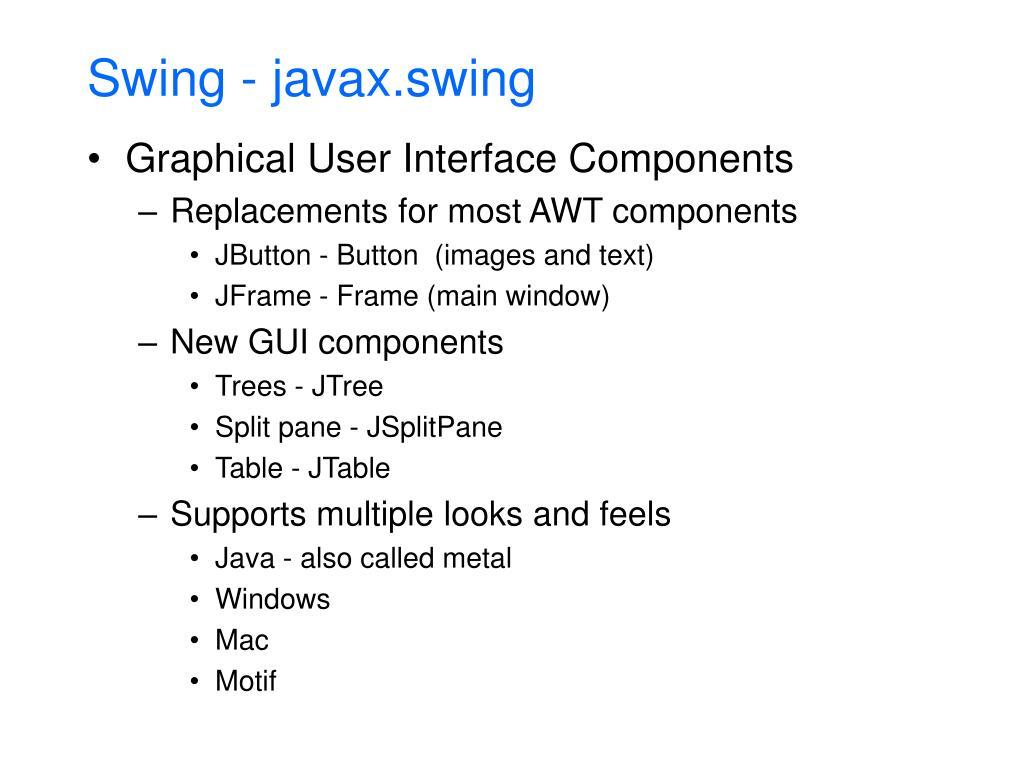 Swing - javax.swing