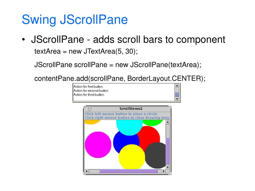 Swing JScrollPane