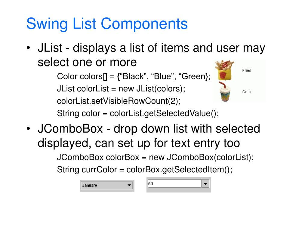 Swing List Components