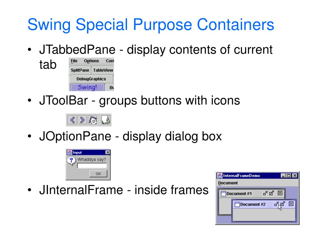 Swing Special Purpose Containers