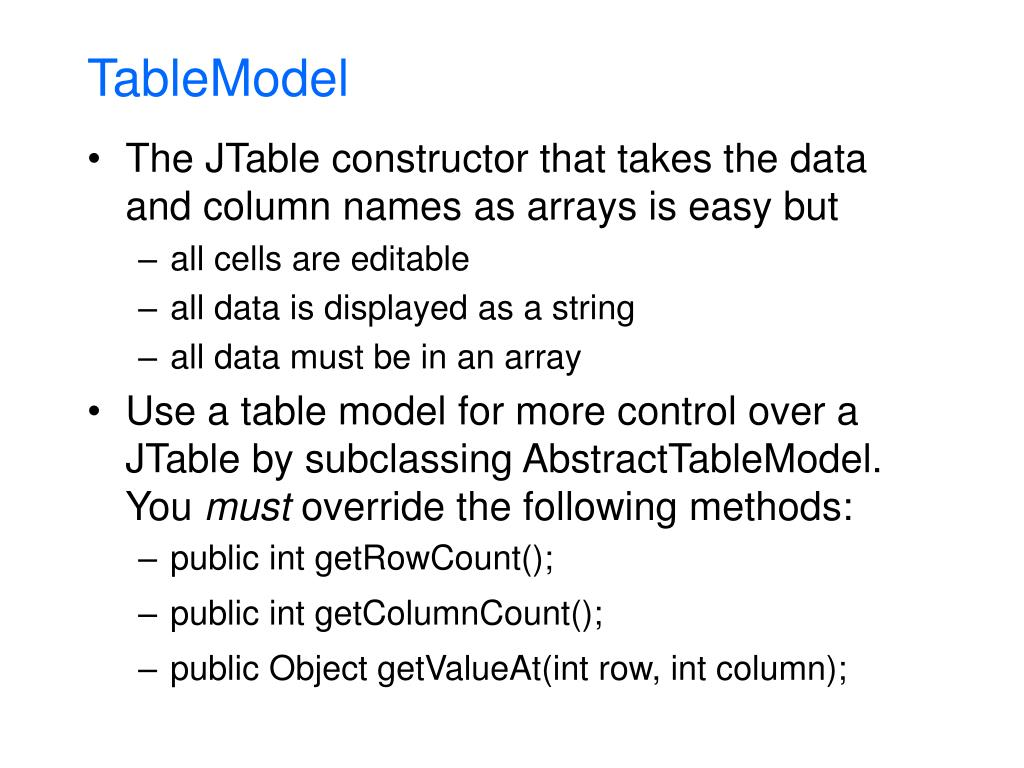 TableModel