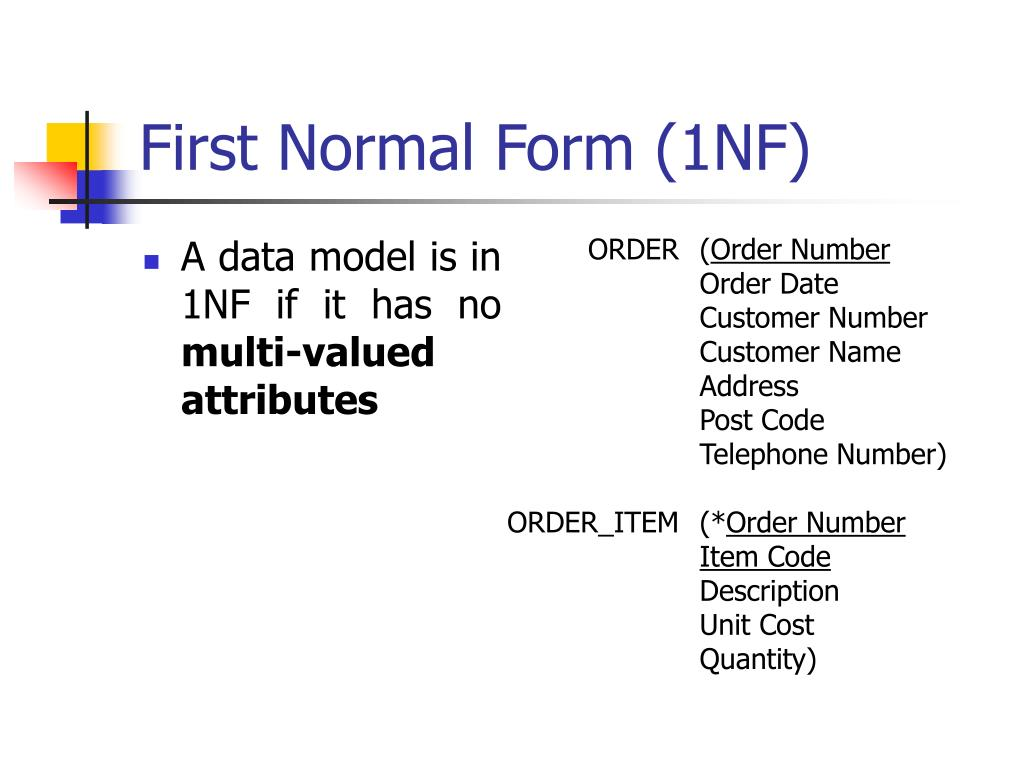 First Normal Form (1NF)
