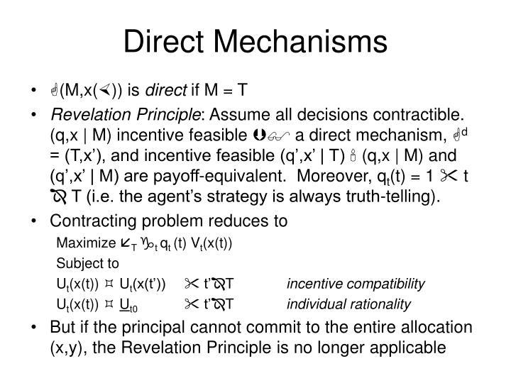 Direct Mechanisms