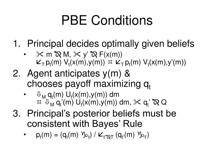 PBE Conditions