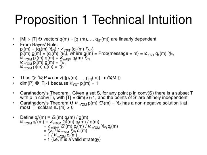 Proposition 1 Technical Intuition