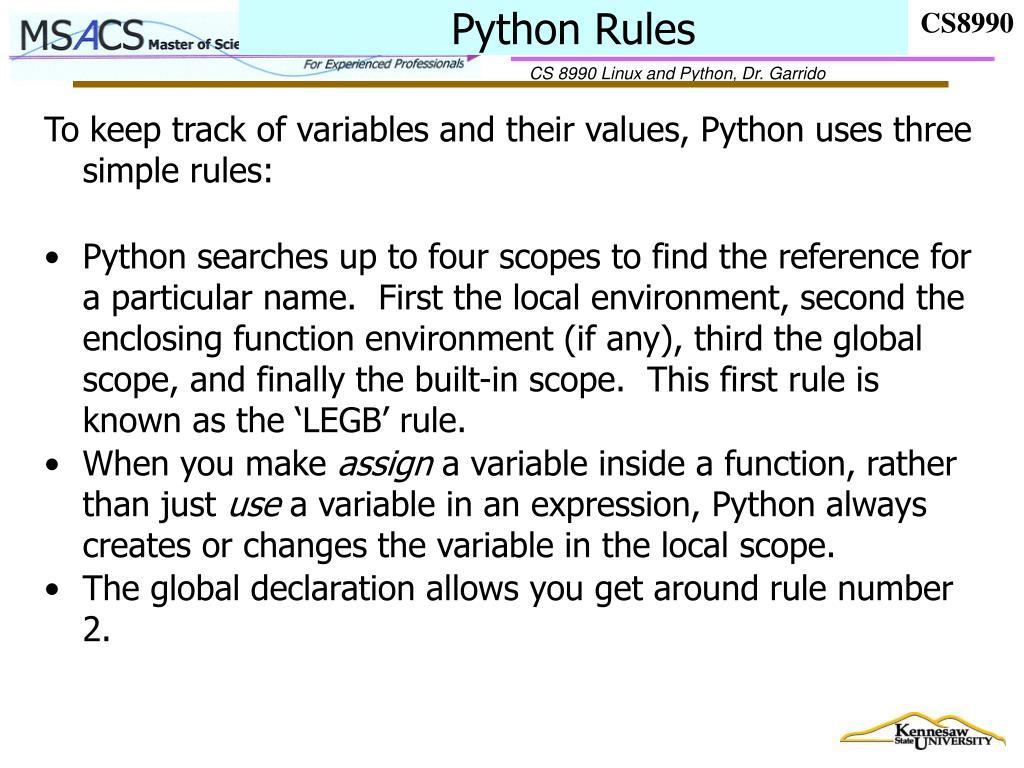 Python Rules