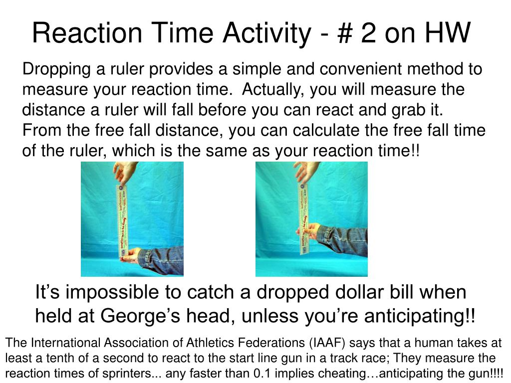 Reaction Time Activity - # 2 on HW