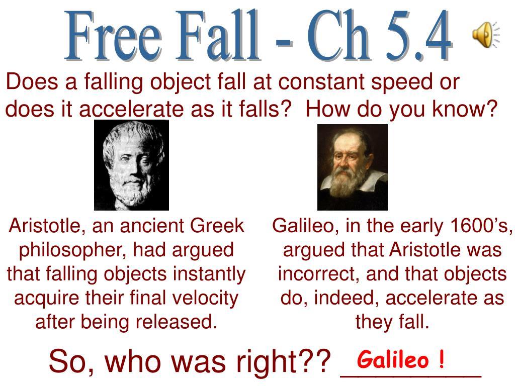 Free Fall - Ch 5.4