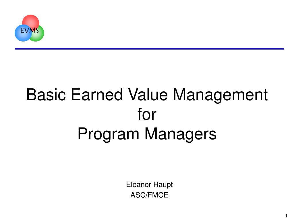 Basic Earned Value Management