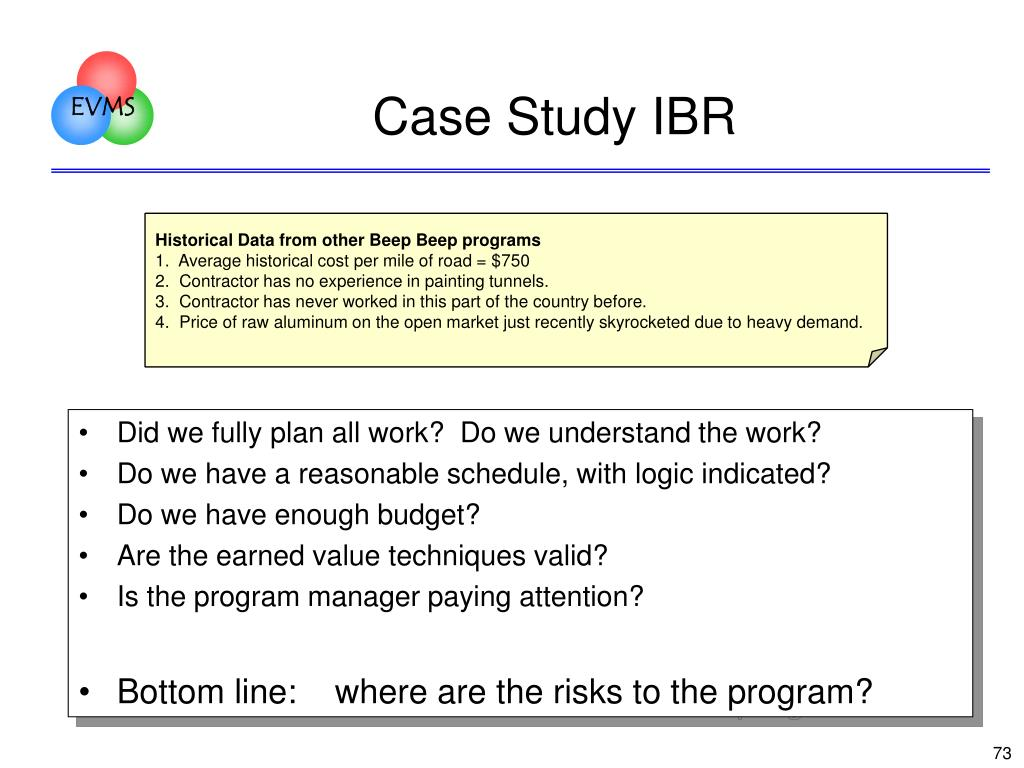 Case Study IBR