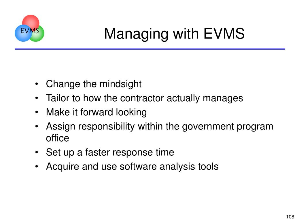 Managing with EVMS
