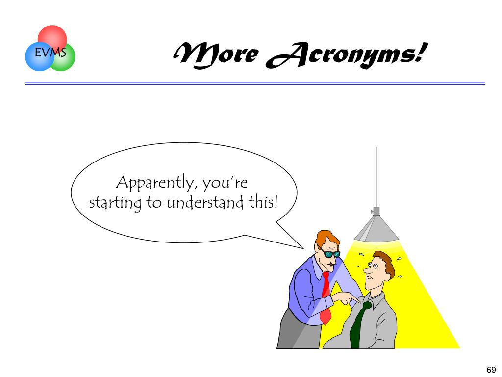 More Acronyms!