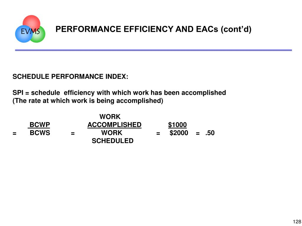 PERFORMANCE EFFICIENCY AND EACs (cont'd)