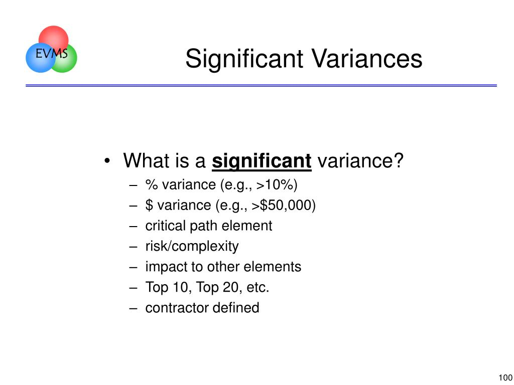 Significant Variances