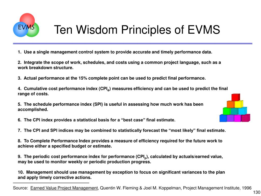 Ten Wisdom Principles of EVMS