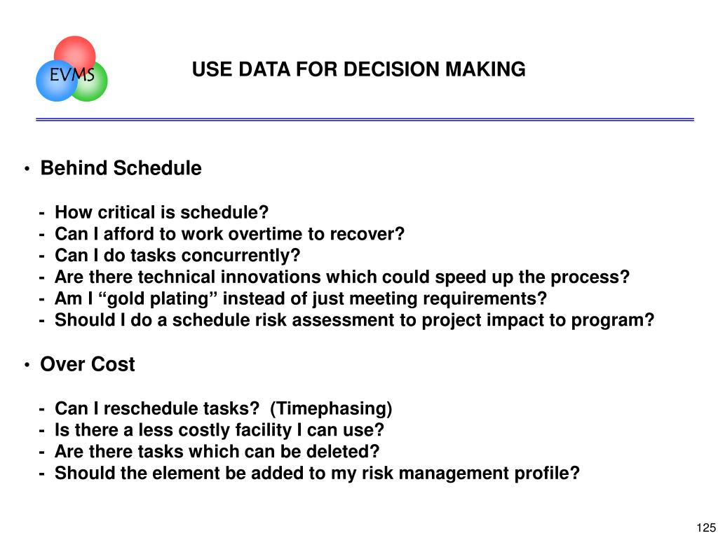 USE DATA FOR DECISION MAKING