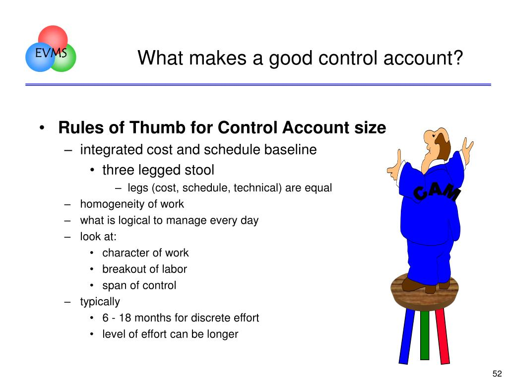 What makes a good control account?