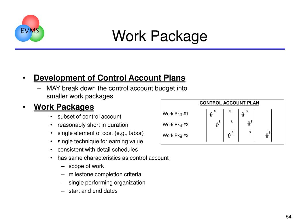 CONTROL ACCOUNT PLAN