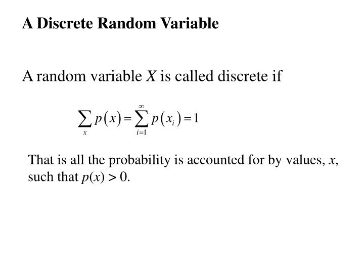 A Discrete Random Variable