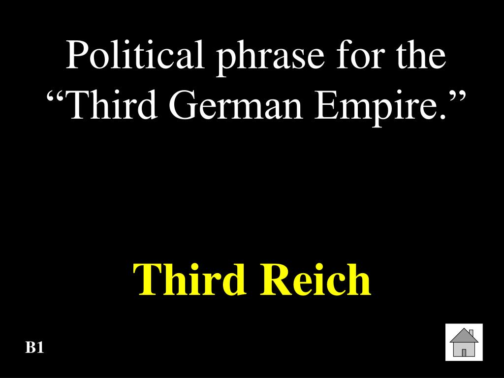 "Political phrase for the ""Third German Empire."""