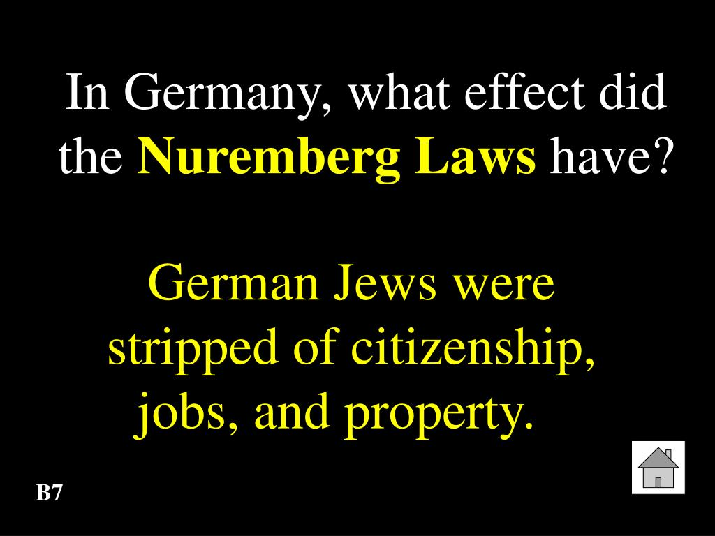 In Germany, what effect did the