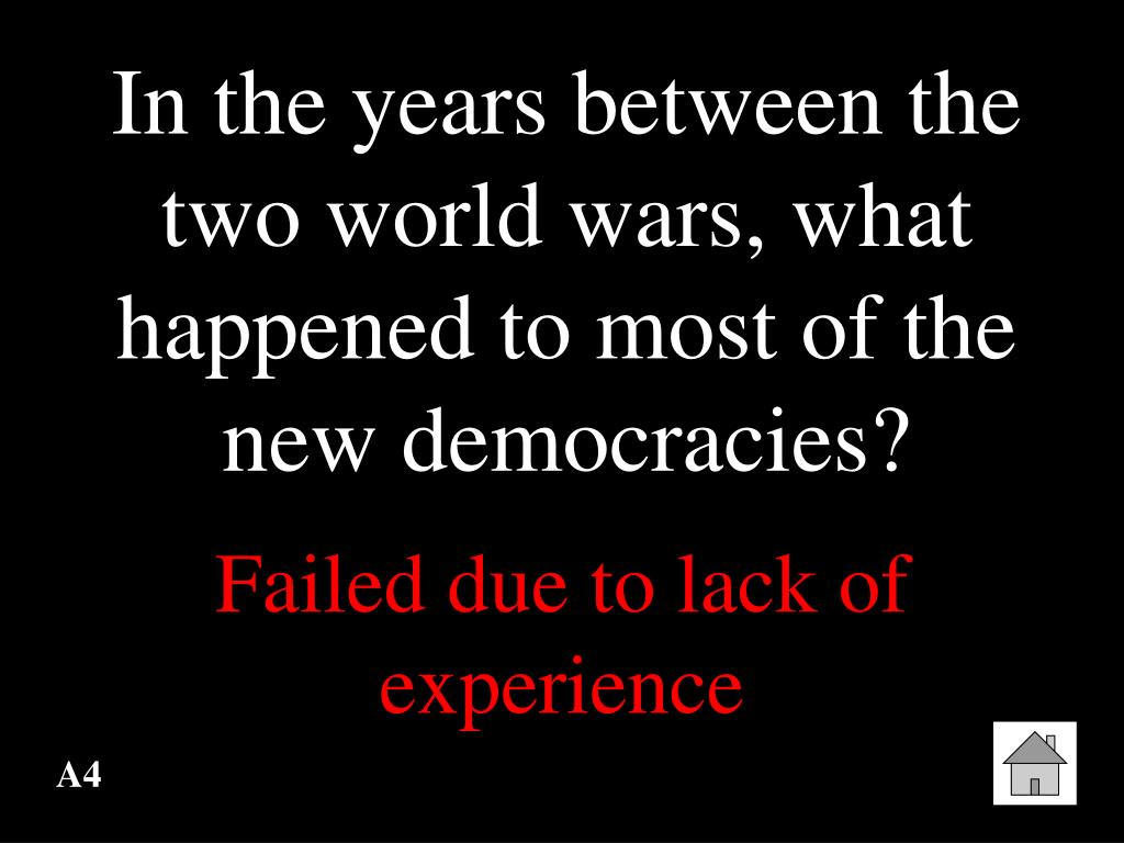 In the years between the two world wars, what happened to most of the new democracies?