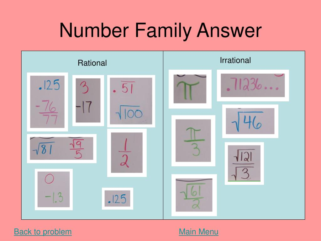 Number Family Answer