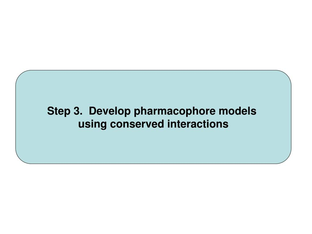 Step 3.  Develop pharmacophore models