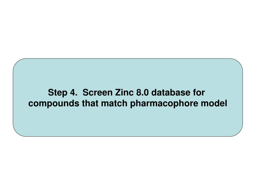 Step 4.  Screen Zinc 8.0 database for