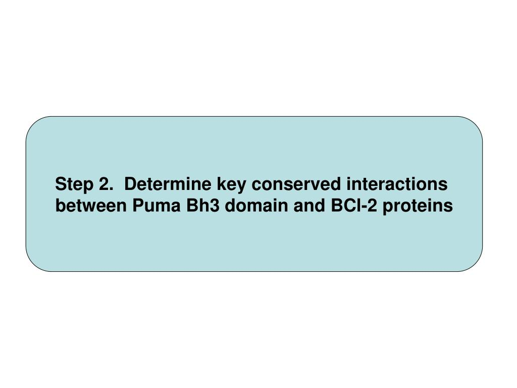 Step 2.  Determine key conserved interactions